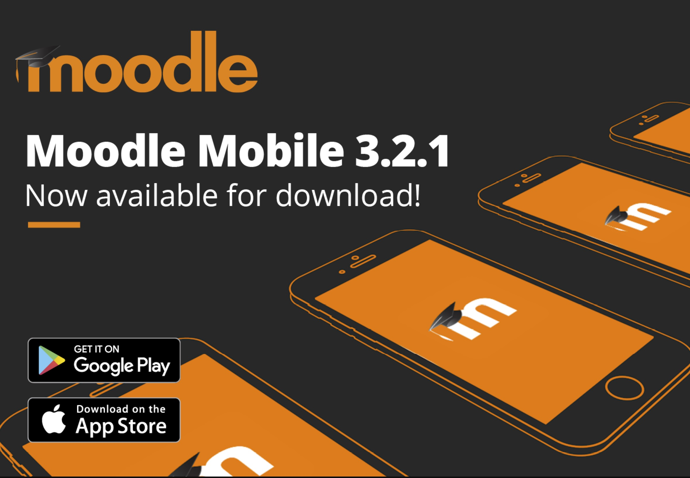 The home page of the Moodle App to click if you want to install it